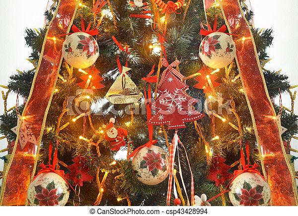 decorative Christmas tree - csp43428994