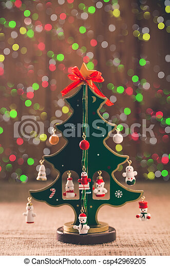 decorative Christmas tree - csp42969205