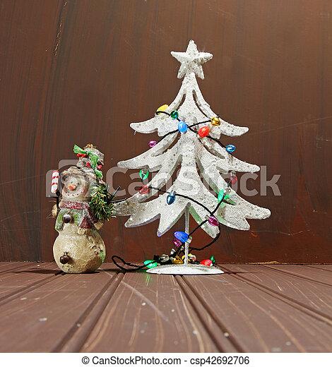 Decorative Chritmas tree - csp42692706