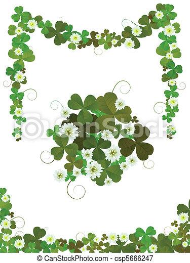 Decorative clover design  - csp5666247