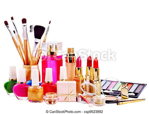 Decorative cosmetics and perfume. - csp9523892