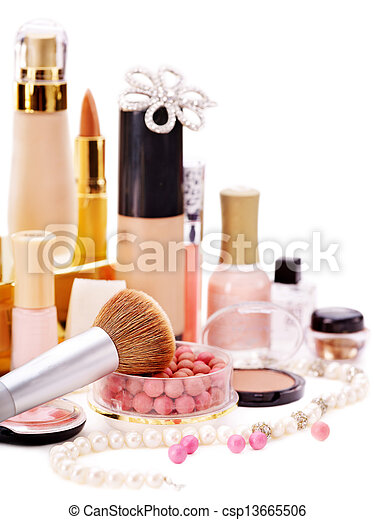 Decorative cosmetics for makeup. - csp13665506