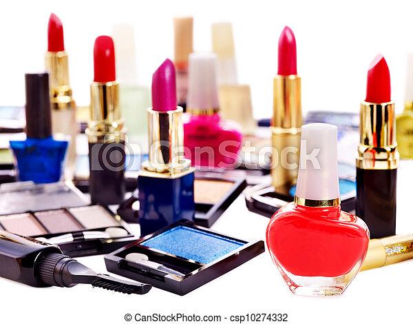 Decorative cosmetics for makeup. - csp10274332