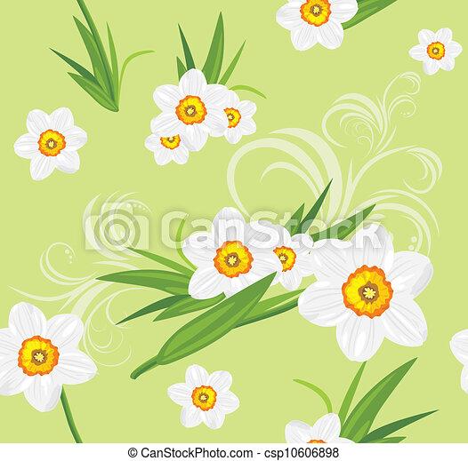 Decorative daffodil background - csp10606898