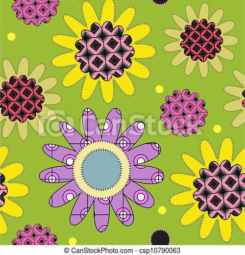 Decorative daisy pattern - csp10790063