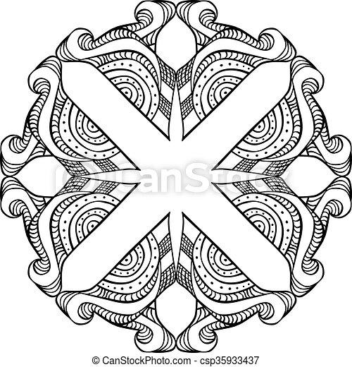 Decorative design element - csp35933437