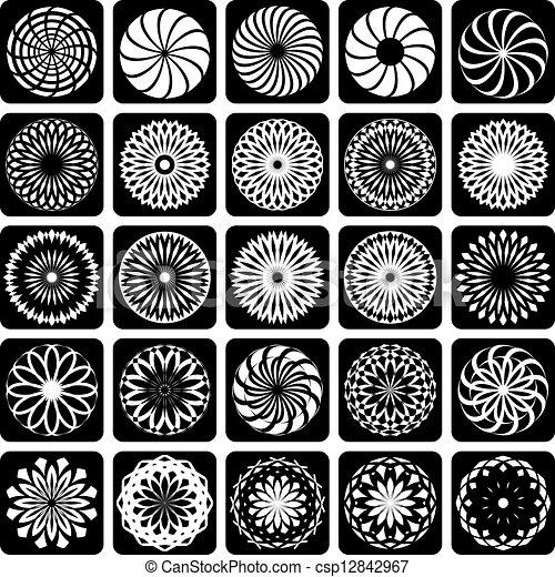 Decorative design elements. - csp12842967