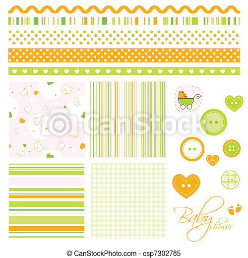 Decorative design elements - csp7302785