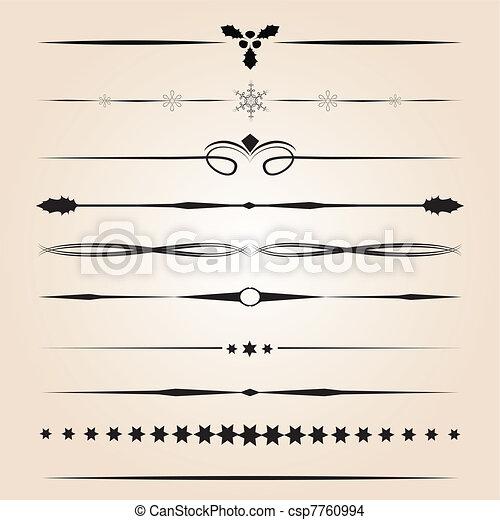 Decorative design elements - csp7760994