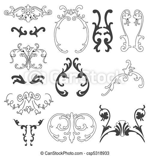 decorative design elements - csp5318933