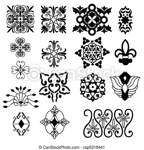 decorative design elements - csp5318441