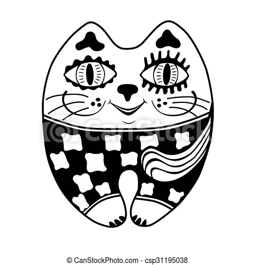 decorative drawing funny cat funny cat decorative stylized rh canstockphoto ca  funny cat clip art images