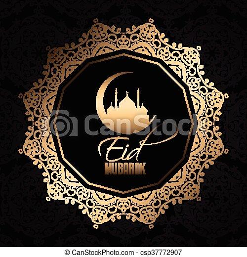 decorative eid mubarak background 0606 - csp37772907