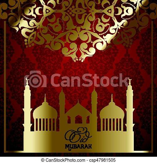 decorative eid mubarak background 2205 - csp47981505