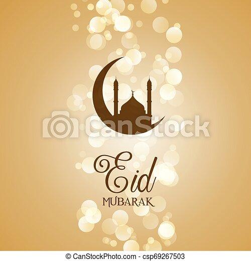 Decorative Eid Mubarak background - csp69267503