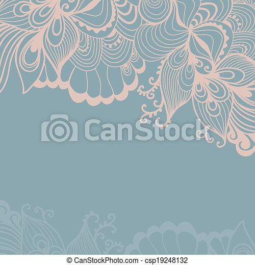 decorative element border abstract invitation card template wave