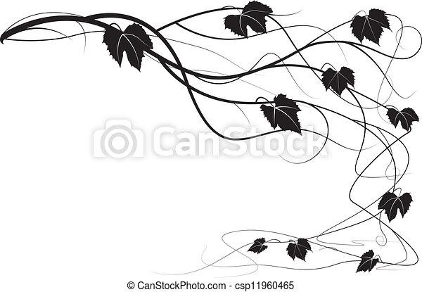 Decorative element creeper vine - csp11960465