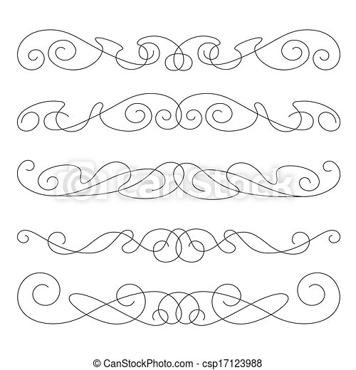 decorative elements, border and page rules - csp17123988
