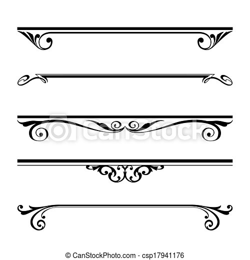 decorative elements, border and page rules - csp17941176
