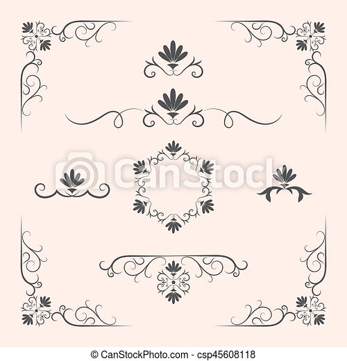 Decorative elements, border and page rules - csp45608118