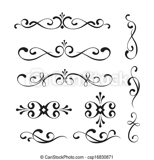 decorative elements, versieringen - csp16830871