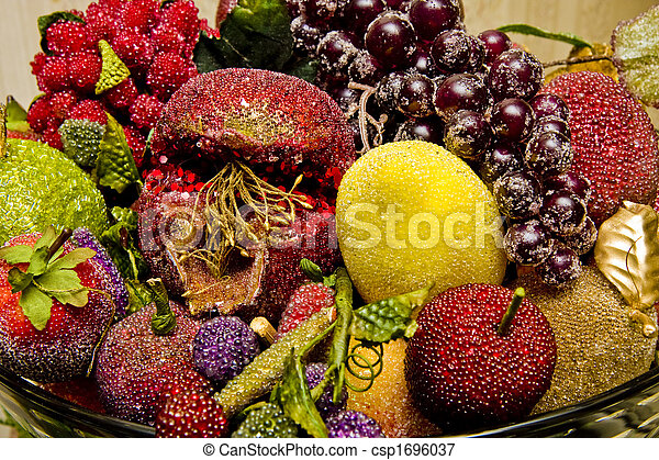 Decorative Fake Fruit at Christmas - csp1696037