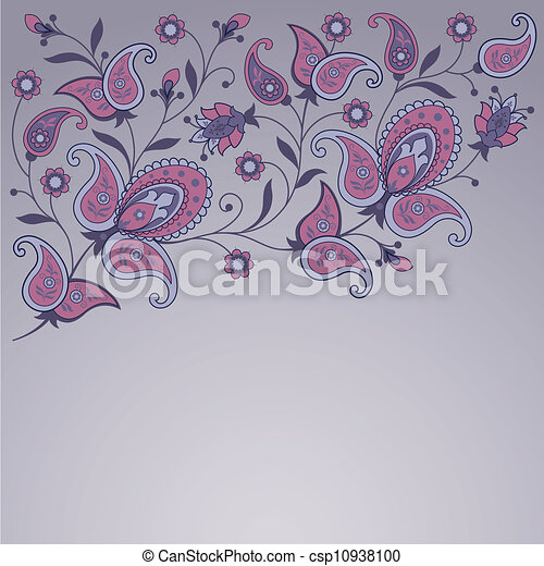 Decorative floral background - csp10938100