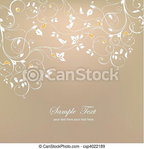 Decorative floral background. Vector - csp4022189