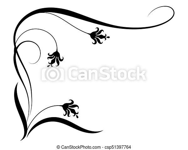 decorative floral corner ornament for stencil isolated on clip rh canstockphoto com decorative clip art designs free decorative clip art frames