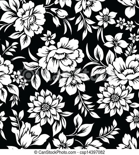 Decorative Floral Wallpaper Seamless