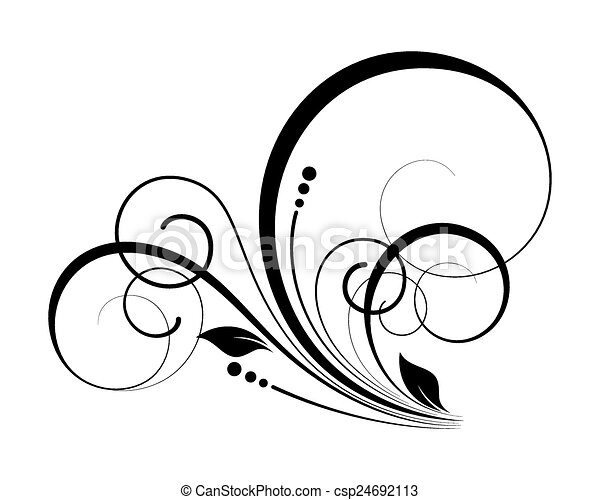 decorative flourish swirl elements silhouette vector clip art rh canstockphoto com swirl vector graphics swirl vector background