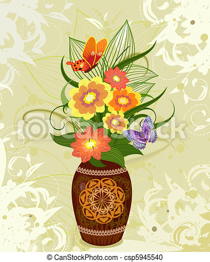 decorative flower in a vase - csp5945540  sc 1 st  Can Stock Photo & Decorative flower in a vase.