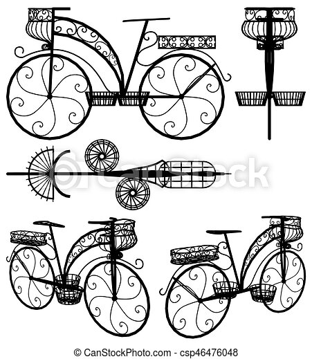 Bicycle Rack Illustrations And Stock Art 172 Bicycle Rack