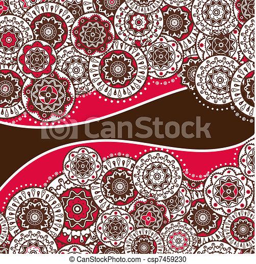 decorative folk background - csp7459230