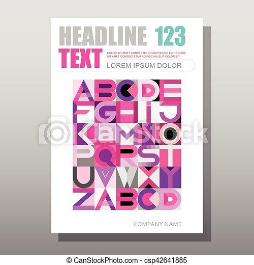 Decorative Font Design vector template - csp42641885