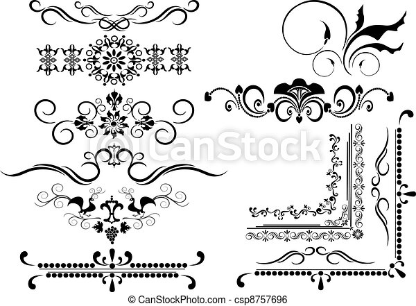 Decorative frame, border of ornamen. Decorative ornamental border ...