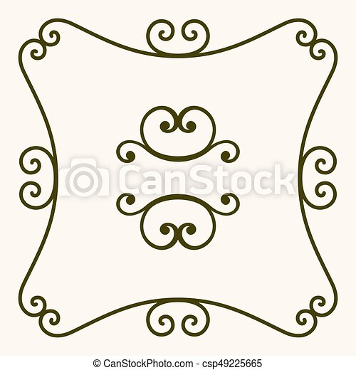 Decorative frame - csp49225665