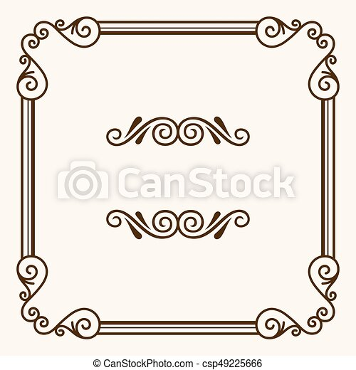 Decorative frame - csp49225666