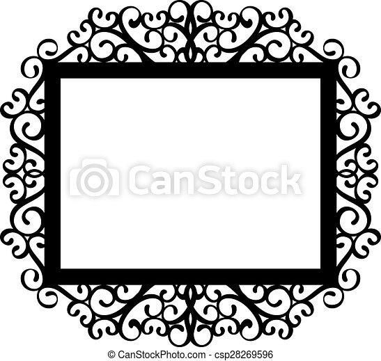 decorative frame - csp28269596