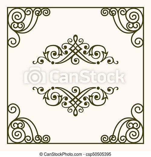 Decorative frame - csp50505395