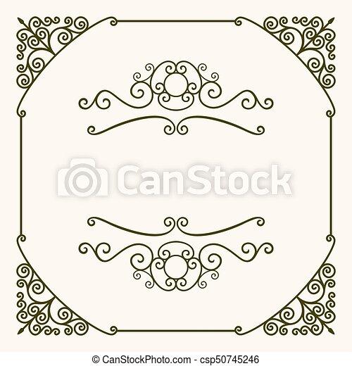 Decorative frame - csp50745246