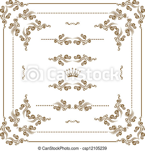 decorative frame - csp12105239