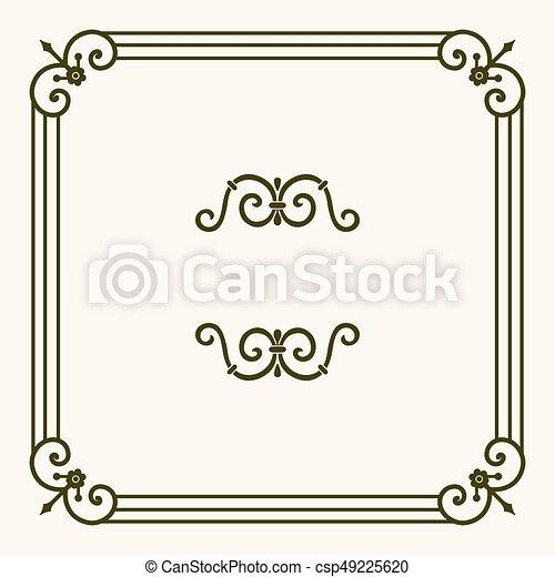 Decorative frame - csp49225620
