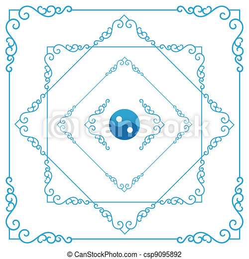 Decorative frame - csp9095892