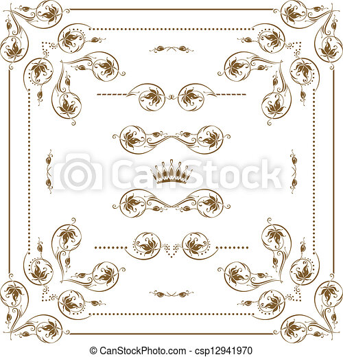 decorative frame - csp12941970