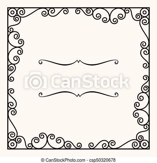 Decorative frame - csp50320678