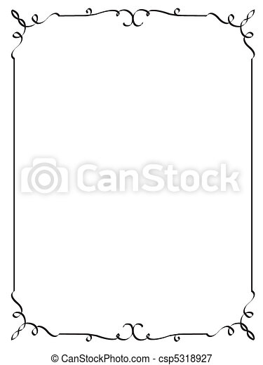 decorative frame - csp5318927