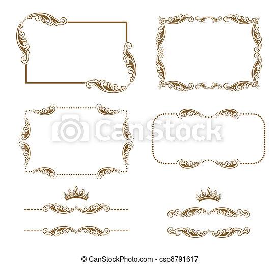 decorative frame - csp8791617