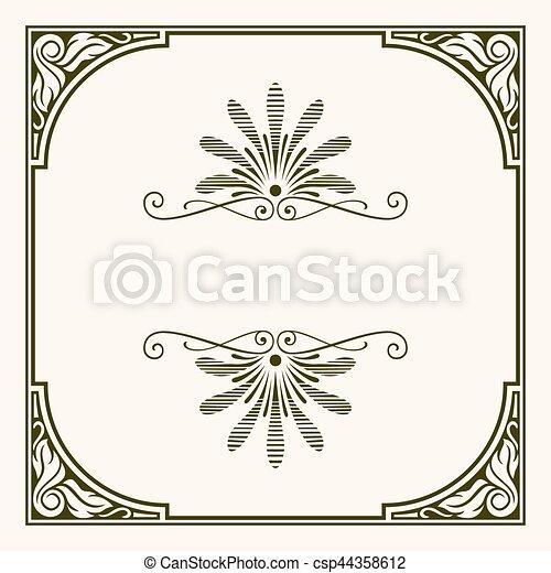 Decorative frame - csp44358612
