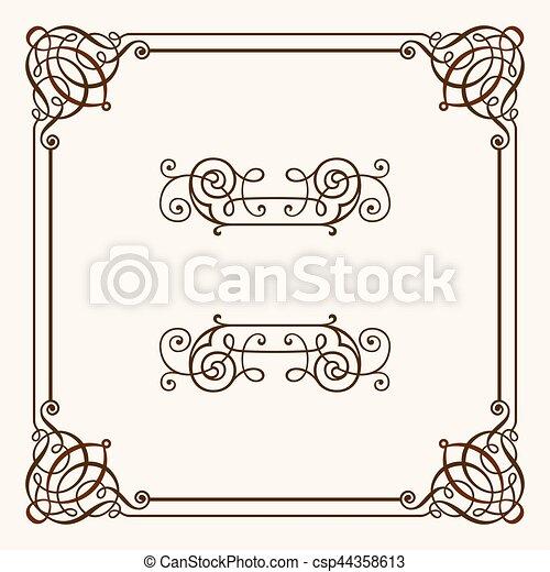 Decorative frame - csp44358613